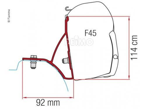 Kit adaptateur F 45/F70 Fiamma