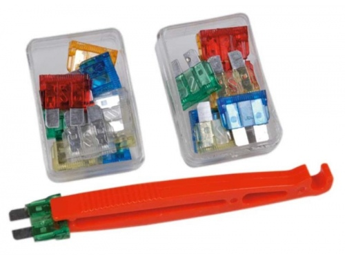 Kit 22 fusibles fiches plates + pince