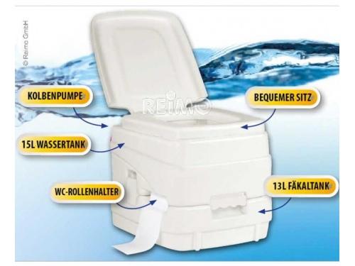 Toilette chimique de camping 13/15Litres