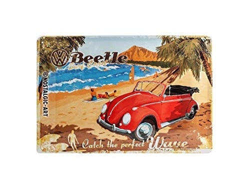 Carte postale en métal Nostalgic Art collection Catch The Perfect Wave