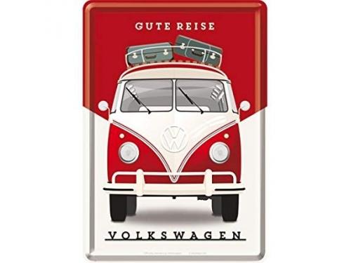Carte postale en métal Nostalgic Art collection Gute Reise