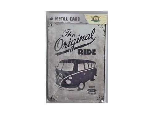 Carte postale en métal Nostalgic Art collection The Original Ride