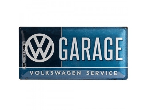 Plaque émaillée avec cordelette collection Volkswagen Service