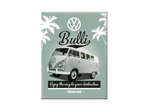 Plaque émaillée 15X20 cm. Collection Volkswagen Bulli