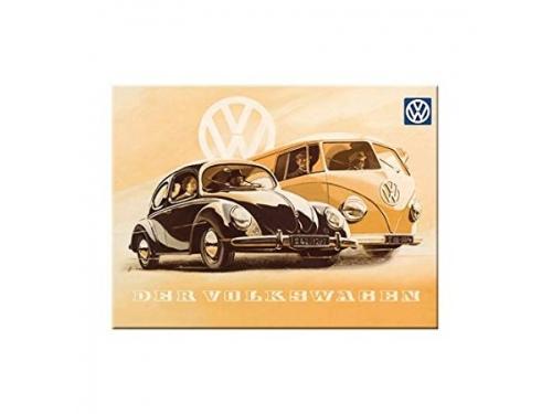 Plaque émaillé 15X20cm. Collection Volkswagen Der Volkswagen
