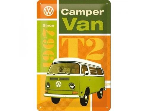 Plaque émaillée 20X30cm. Collection Volkswagen Camper van T2