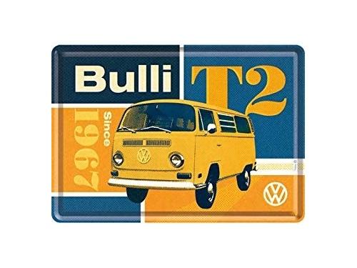 Grande plaque émaillé collection Volkswagen Bulli T2