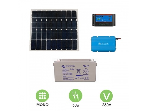 Kit solaire autonome 30W - 230V Monocristallin