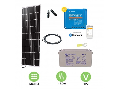 Kit solaire 160 W autonome 12V Monocristallin