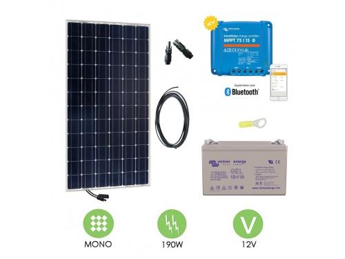 Kit solaire 200 W autonome 12V Monocristallin