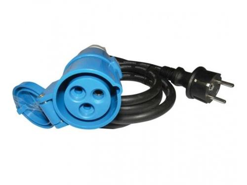 Câble adaptateur 1,5m Schuko mâle / Femelle CEE Carbest
