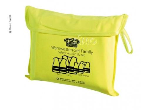 Pack de quatre gilet sécurite jaune