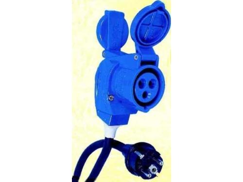 Câble adaptateur 25m Schuko mâle / Femelle CEE