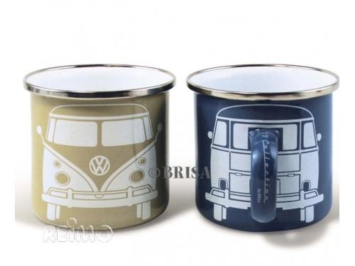 Lot de 2 Tasses Mug Volkswagen Collection Gris Bleu