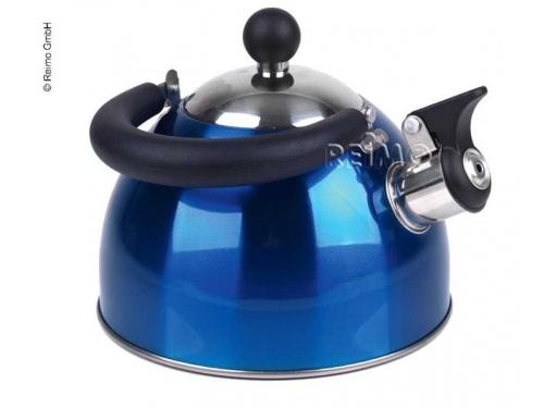 Bouilloire inox bleue cosima 1.8 L avec sifflet