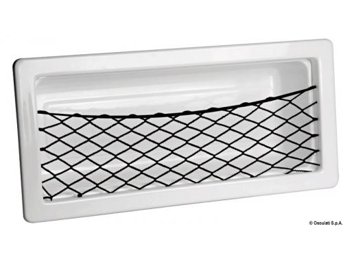 Poche latérale fourre-tout en ABS blanc avec filet