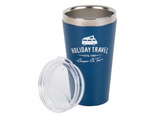 "Mug Tasse en Inox ""Holiday Travel"" BLEU"