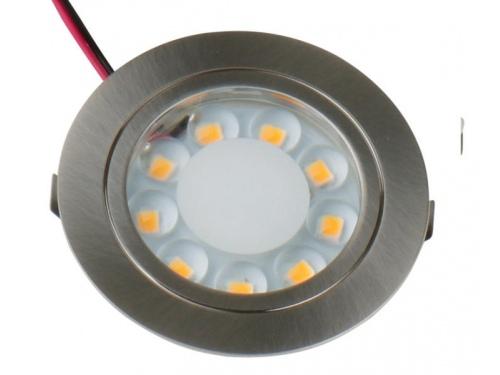 Spot LED 12V en acier à encastrer