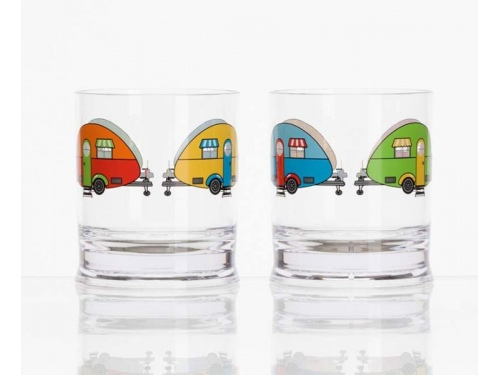 Lot de 2 verres colorés pour enfants
