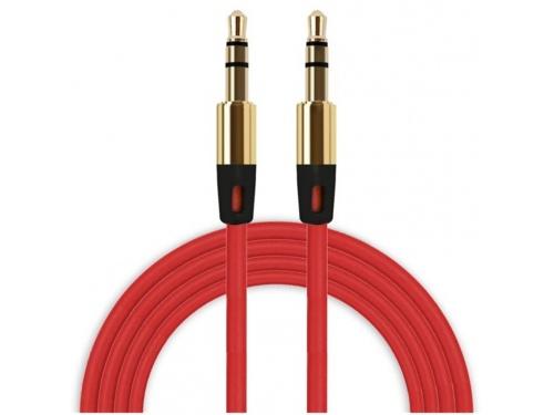 Câble Rouge double prise jack stéréo de 110 cm, prise Jack 3,5mm.