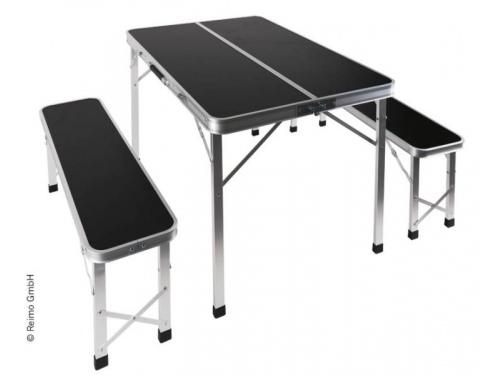 Table valise avec deux bancs