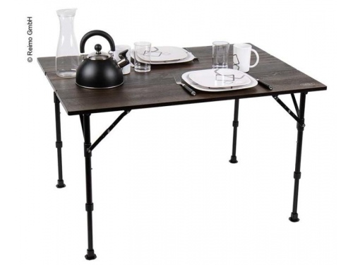 Table pliante Luxury aspect bois ebene