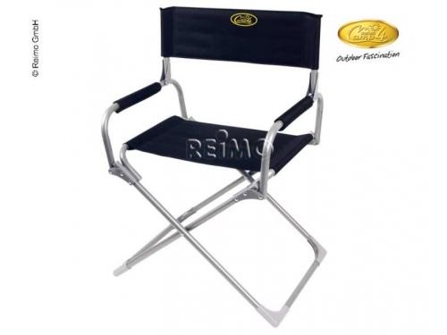 Chaise pliante ethno noire avec decor blanc