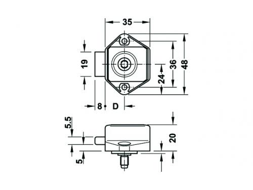 Serrure mini push-lock