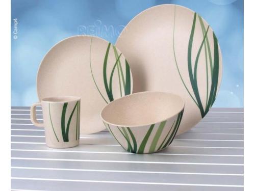 Set de vaisselle pour 2 personnes en bambou