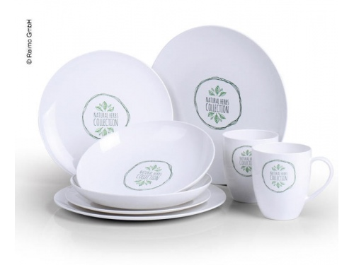 Set de vaisselle écologique pour 2 personnes