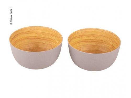 Ensemble de deux bols en impression bambou