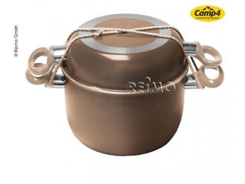 Batterie de cuisine aluminium 7 pièces brun/beige