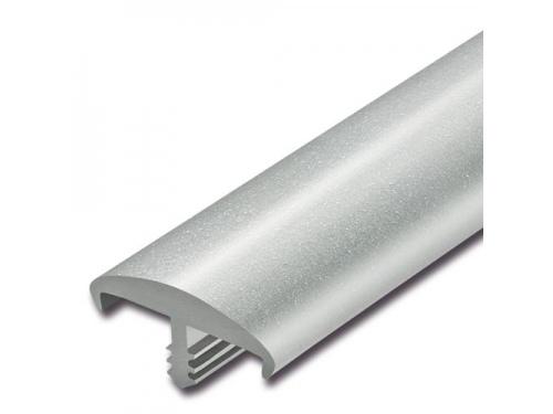 Bande de chant à nervure Idéal gris argent 20 x 5 mm pour panneau de 16 mm