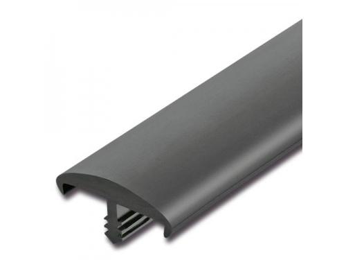 Bande de chant à nervure Idéal noir mat 22x5mm 24m pour panneau 19mm