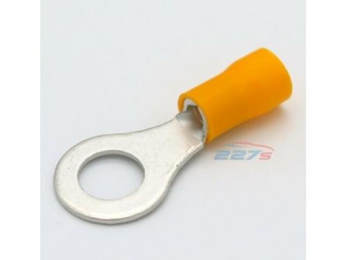 Cosse ronde électrique Jaune trou de 8mm