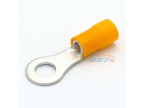 Cosse ronde électrique Jaune trou de 6mm