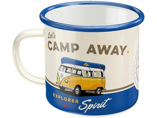 Tasse en émail. Nostalgic-Art. Volkswagen Camp Away