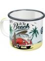 Tasse en émail. Nostalgic-Art. Volkswagen Life at the Beach