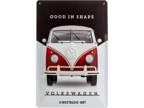 Plaque émaillé 20X30cm. Collection Volkswagen Good in Shape.