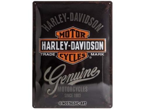 Plaque émaillée 30X40 cm. Collection Harley-Davidson.
