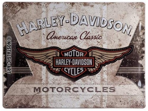 Plaque émaillé 20X30cm. Collection Harley-Davidson.
