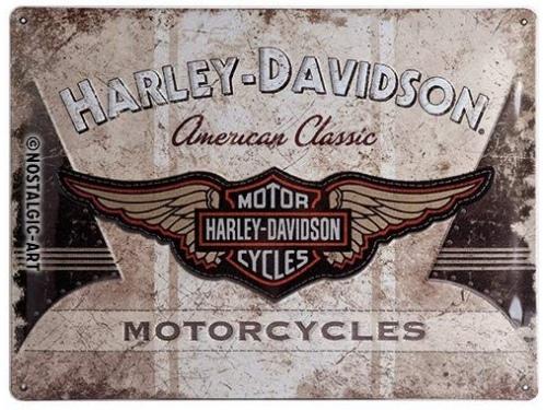Plaque émaillée 30X40cm. Collection Harley-Davidson.