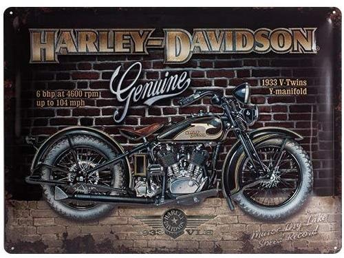 Plaque émaillé 30X40cm. Collection Harley-Davidson.