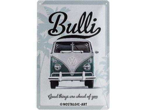 Plaque émaillée 20X30cm. Collection Volkswagen Bulli.
