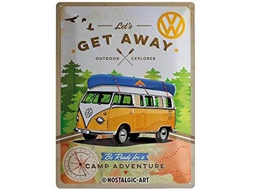 Plaque émaillé 30X40cm. Collection Volkswagen Get Away