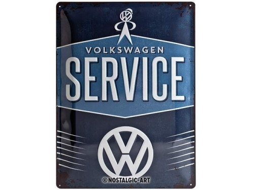 Plaque émaillé 30X40cm. Collection Volkswagen Service