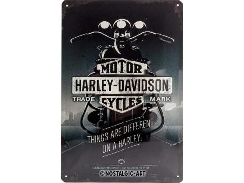 Plaque émaillé 20X30cm. Collection Harley-Davidson.