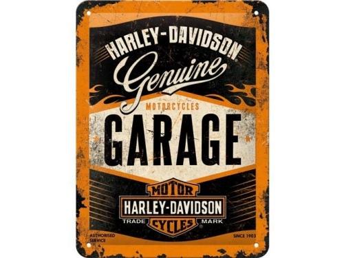 Plaque émaillée 40X60 cm. Collection Harley-Davidson.