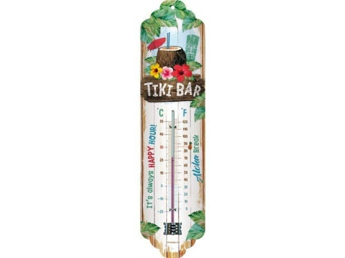 Thermomètre Nostalgic Art. Collection TIKI BAR.