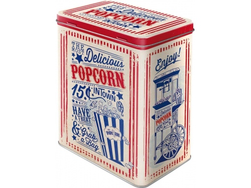 Boite Tin Boxes L Nostalgic Art DELICIOUS POP CORN